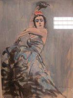 「画家田村孝之介 フラメンコ.A水彩画」買取させていただきました。